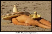 sunbathing in Mexico